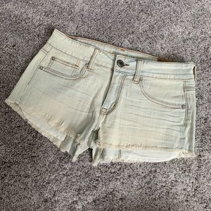 AEO Shortie Denim Shorts